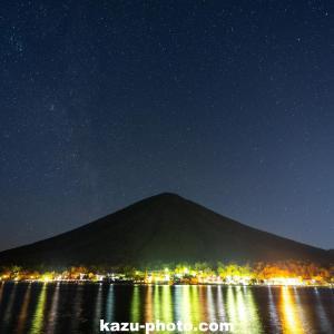 中禅寺湖で撮影した星空と男体山!@栃木県 奥日光の星空スポット