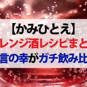 【かみひとえ】アレンジ酒レシピまとめ 納言の薄幸が飲み比べてベスト5を大発表