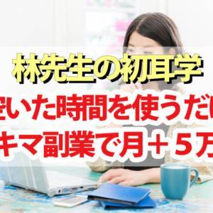 【林先生の初耳学】スキマ副業で月+5万円稼ぐ技まとめ|副業マッチングサイトを利用して初心者でも稼げる
