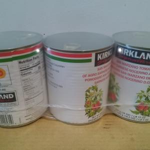 【コストコ】KIRKLANDサンマルツァーノ ホールトマトD.O.P(800g×3缶/税込1198円)