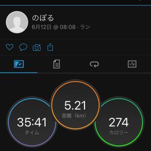 蒸し暑い中のジョギング