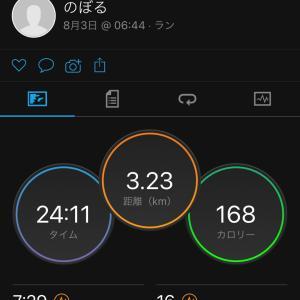8月最初の早朝ジョギング