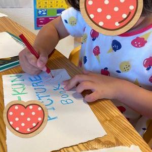 【 朝活 】絵本作り、4歳娘はハマりました!!