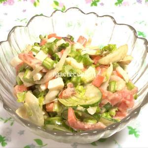 コールスローならぬ野菜サラダを調理【作り置き】