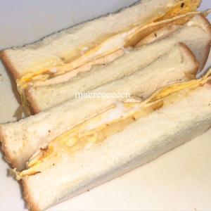 今日のお弁当・サンドイッチを調理