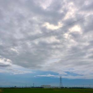 雨がパラつく朝の鉄塔群・7月24日金曜日