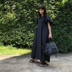 長谷川京子、全身真っ黒コーデが大反響「可愛い」「20代かと」