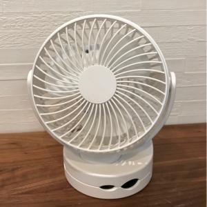 充電式・360度回転するコンパクト扇風機!クリップ止め・吊り下げもできて便利♫