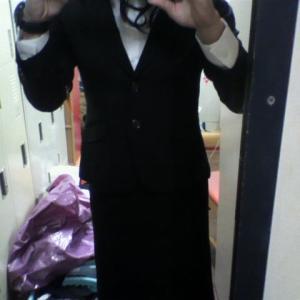 今後のリクルートスーツ女装の予定