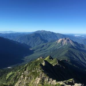 西穂高岳山頂~西穂山荘へ下山(5)西穂高岳~焼岳~上高地縦走