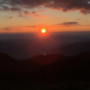 焼岳展望台でアーベンロート(8)西穂高岳~焼岳~上高地縦走