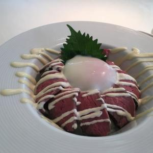 レストラン La Riviereでお楽しみのローストビーフ丼(12)西穂高岳~焼岳~上高地縦走