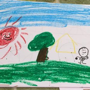 息子の作品集、風景画やアンパンマン。