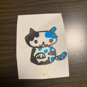 息子が描いた猫。