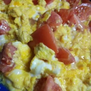 3月のライオンに触発されて ~トマトと卵のフワトロ炒め~