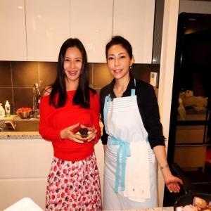スプンフル料理教室の美人先生Y子さんを呼んで、おうちでホームパーティー