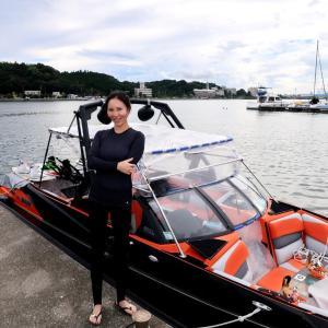 浜名湖で初のウェイクボードに挑戦