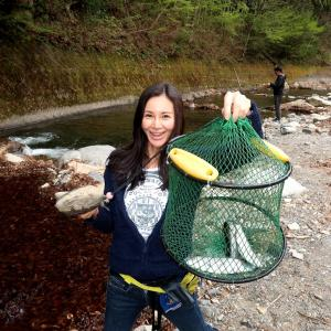 初めての渓流釣り@奈良子