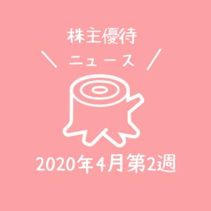 2020年4月第2週|株主優待関連ニュースおまとめ便|新設・変更・廃止?