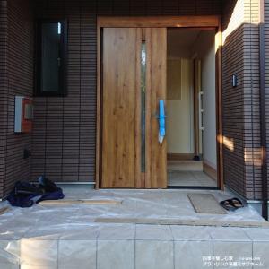 建築現場⑮前編 カーポート&玄関タイル&ポスト ミサワホーム
