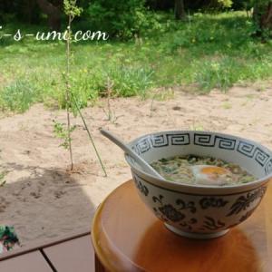 5月のリンクテラス昼飯グランピングラーメン