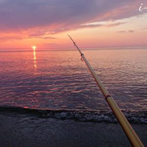 夕まづめの日本海で投げ釣り!はじめました