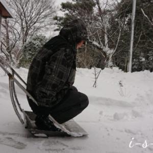 夫の冬の得意ネタ「雪になった私」
