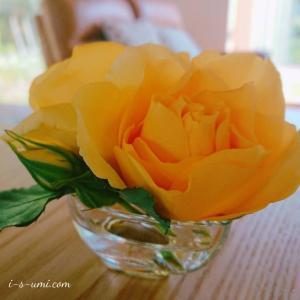 萎れかけたバラの切り花、ちょっとひと工夫で素敵に