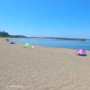 この夏最初の海水浴