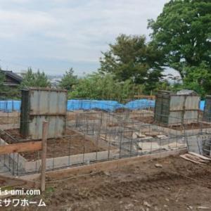 建築現場②基礎工事【連続布基礎】ミサワホーム