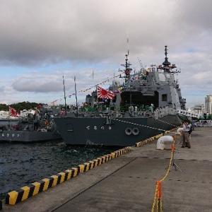 戦艦がずらりと並ぶイベント