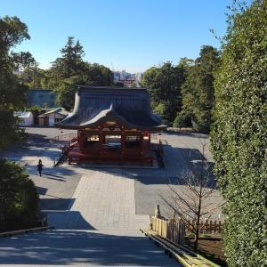 朝の鎌倉鶴岡八幡宮