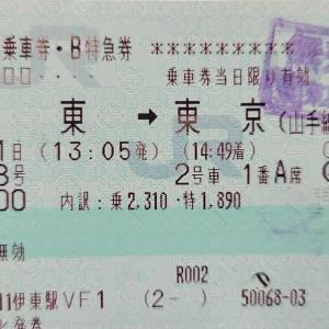 【さよなら同期・185系記事】個人的ラストラン 特急踊り子8号 伊東➡️東京 乗車