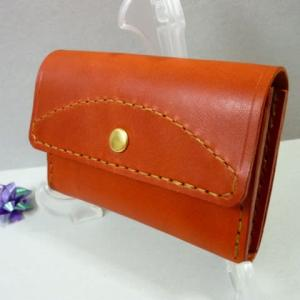 コンパクト財布(赤茶色)・・補充 制作