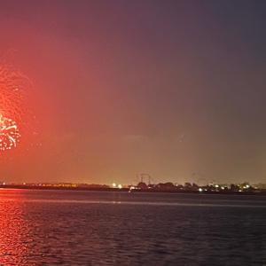 シーワルドの花火を近くの公園で見る