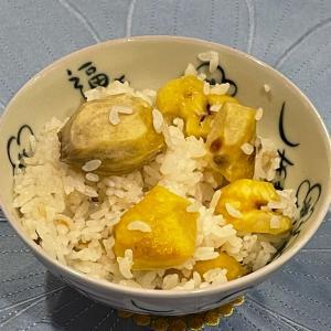 栗ご飯の季節