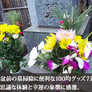 お盆前の墓掃除に便利な100均グッズ7選!不思議な体験と幸運の象徴に感激。