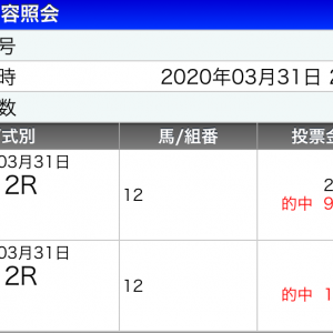 20年4月1日船橋競馬11Rの馬券予想!12R花まつり特別とダブル獲りだ
