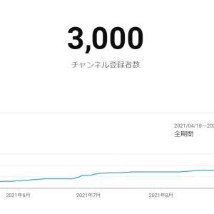YouTubeのチャンネル登録者が3000名を超えて思うこと