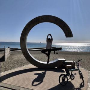 Bianchiで行く湘南海岸で富士山に癒やされる(笑)
