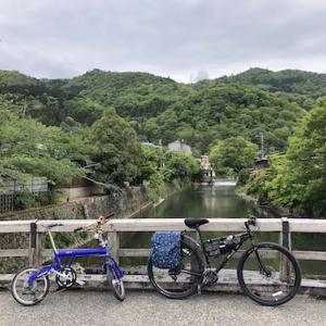 京都市内三角チャリトレ下鴨神社→桂川・鴨川合流地点→嵐山