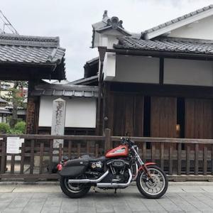 ハーレーで行く草津宿ー東海道と中山道が出会う宿場町