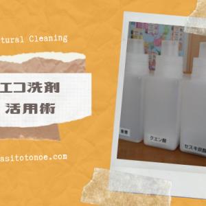 4種類のエコ洗剤を使いこなしたい!我が家のナチュラルクリーニング