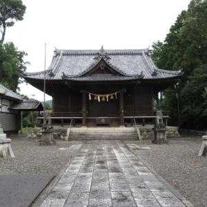 雨間の八幡神社とハクセキレイ