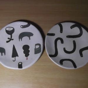 可愛いイラスト皿