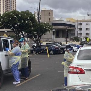ハワイ•ブレイズデル•アリーナーで行われている新型コロナ無料検査を受けてみた