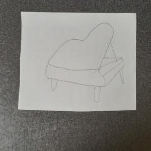 グランドピアノで練習^^