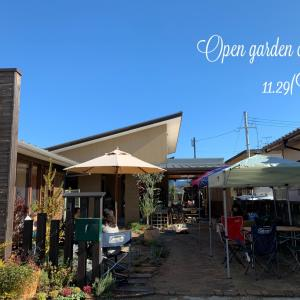『Open garden cafe in Autumn』有難うございました!