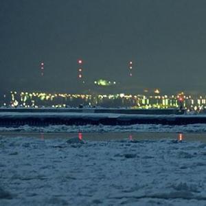 2020/2/12に斜里町の流氷の上に出現した夜景の蜃気楼が幻想的すぎる件