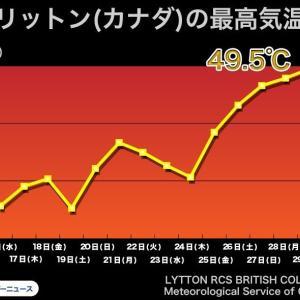 カナダ・リットン村で49.5℃を記録。「背の高い高気圧」がもたらす熱波で死者や山火事も